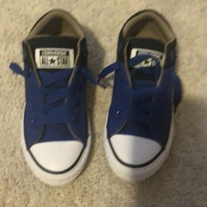 Bnwt kids converse sneakers 13 toddler blue white